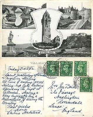 a1024 Stirling, Scotland postcard posted 1948 stamp