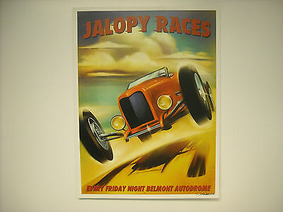 2012 Norwell Signed Jalopy Races Poster 24 X 18 Inches