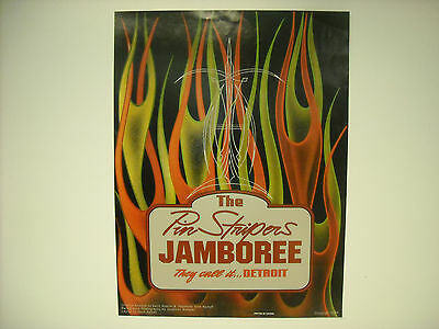 Detroit Autorama 2005 Pinstripers Jamboree Poster 24X18 Inches