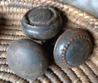 3 Metal  Vintage  Door Knobs no matches  Used