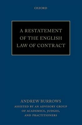 A Restatement of the English Law of Contract (Paperback), Burrows. 9780198755555