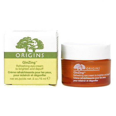 Origins Ginzing Refreshing Eye Cream 15ml Brighten & Depuff Eyes New