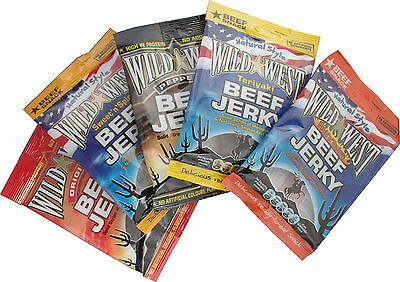 Beef Jerky Wild West try 6 different  Flavours trial pack