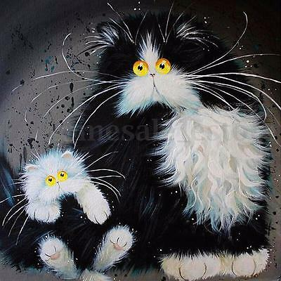 5D Square Diamond Embroidery Painting Rhinestone DIY Craft Cat Room Wall Decor