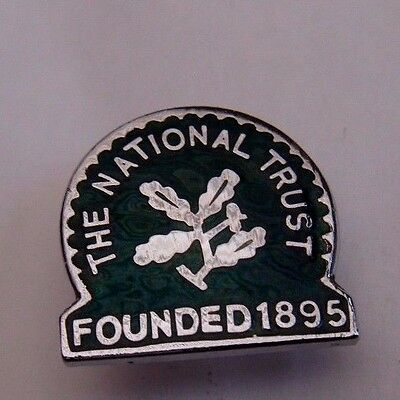 Vintage The National Trust Enamel  Pin Badge