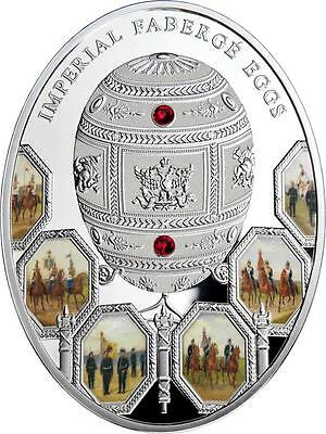 Niue 2012 $2 Patriotic War 1812 Imperial Faberge Eggs 56.56 g Silver Proof Coin