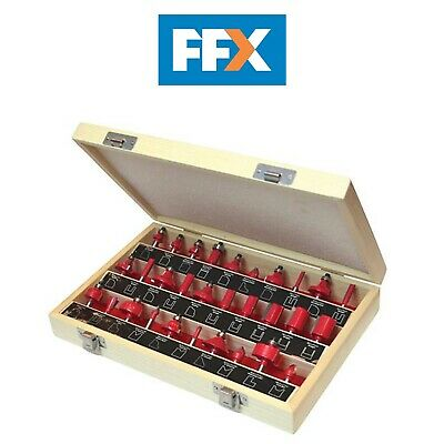 Faithfull FAIRBS30 Tungsten Carbide Router Bit Set 30 in Carry Case