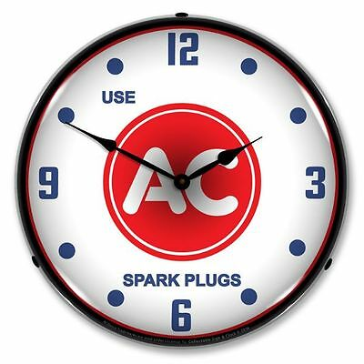 New Use  Ac  Spark Plugs  Retro Backlit Lighted Clock - Free Shipping*