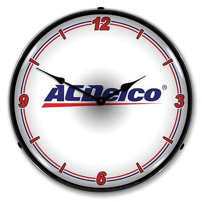 New Ac Delco Wt  Retro Backlit Lighted Clock - Free Shipping*  And Handling