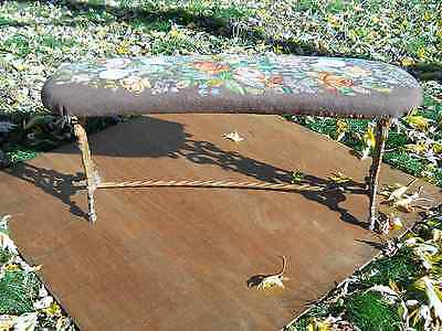 Antique Victorian PIANO BENCH Garden Fireside Cast Iron Lion Head