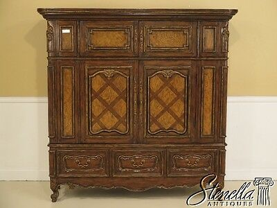 28332E: Large French Provincial Multi Door Wardrobe Or Cabinet