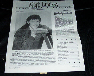 "Lot Of Mark Lindsay ""spreading The News"" Fanzine 3 Issues Paul Revere & Raiders"