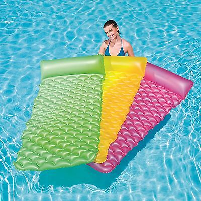 "Bestway Inflatable 84""x34""float'n Roll Swimming Pool Air Bed Lounger Float Mat"