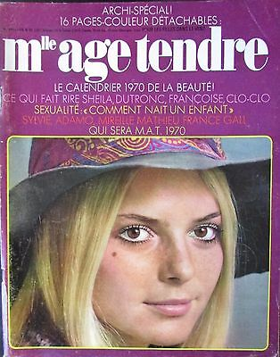 MAGAZINE MADEMOISELLE AGE TENDRE N° 60 de 1969 FRANCE GALL CALENDRIER VEDETTES