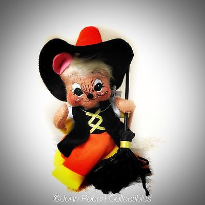 Annalee Dolls Halloween Candycorn Witch Mouse 6 In