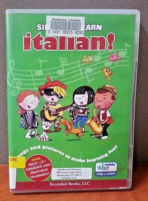 ABC Melody  Sing and Learn Italian  CD & Songbook   LIKE NEW