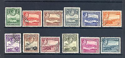 Antigua Sg 98-109 1938 Gvi Definitve Set Fine Used