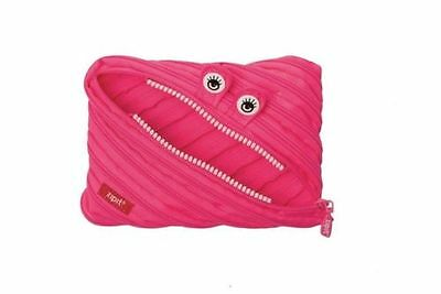 Zipit Monster Jumbo Pouch Pencil Case Funny Scary Bag Zip Teeth (Pink) (8060)