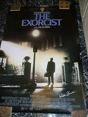 William Friedkin signed The Exorcist movie poster 27 x 40