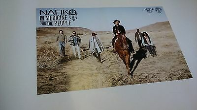 POSTER by NAHKO & medicine for the people / promo for bands tour album cd