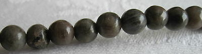 "A 16"" String of Labradorite Round Beads - 6mm"
