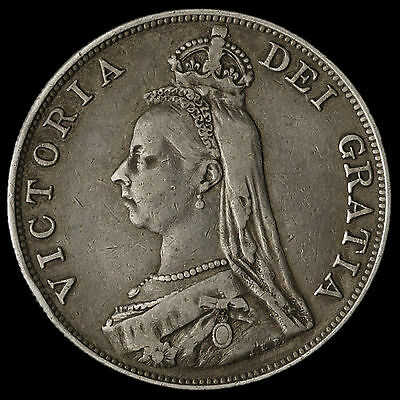 1888 Queen Victoria Jubilee Head Silver Double Florin