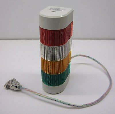 Patlite Model WM-EN Wall-Mount Signal Tower 24V AC/DC Red Clear Amber Green