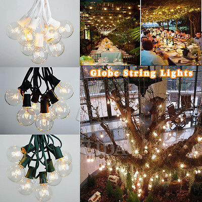 25/100 Foot G30 G40 G50 Globe Patio Party String Lights with 25/125 Clear Bulbs