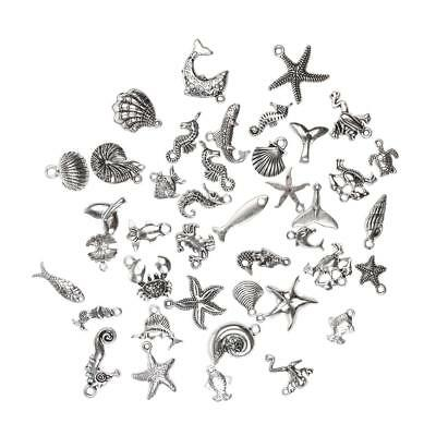 40pcs Vintage Sea Animal Charms Pendants for DIY Jewelry Making Accessory