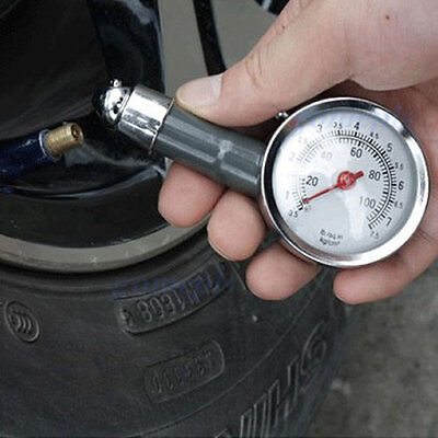 Tire Pressure Gauge 0-100 PSI Auto Car Bike Motor Tyre Air Pressure Gauge Meter
