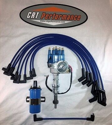 ford small block red small hei distributor coil small block ford 289 302 blue small hei distributor 45k coil plug wires