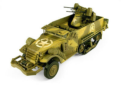 RARE 21st Century WW II 1/18 Scale US Army M16 Multiple Gun Carriage Camouflaged