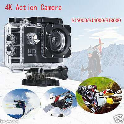 Ultra 4K HD 1080P Waterproof WiFi DV Action Sport Camera Video Camcorder Car Cam