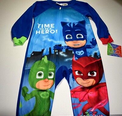 7cac7f7d9 New Pj Masks pajamas with feet Toddler Boys 2t 3t 4t 5t blanket sleeper