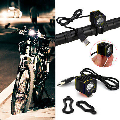 5000LM Bike Bicycle 3x XML T6 LED Headlight Head Lamp Light USB Rechargeable UK