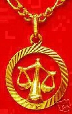 LOOK Gold Plated scales Pendant Zodiac Charm Jewelry Libra