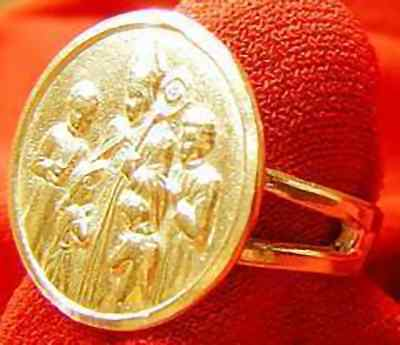 LOOK Gold Plated Saint Patrick Ireland ring Jewelry Silver