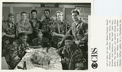 Terence Knox Carl Weathers Stephen Caffrey Tour Of Duty Cast 1989 Cbs Tv Photo