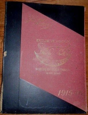 1915 - 1916 Scotch Woolen Mills Chicago Illustrated Tailor 23 x 15 Catalog Book
