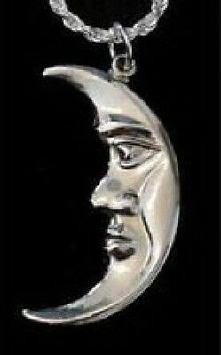 LOOK Celtic Moon Goddess CRESCENT Charm Sterling Silver .925