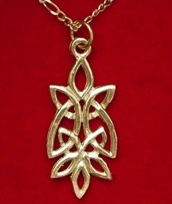 LOOK Celtic Knot of Infinity Gold Plated pendant charm