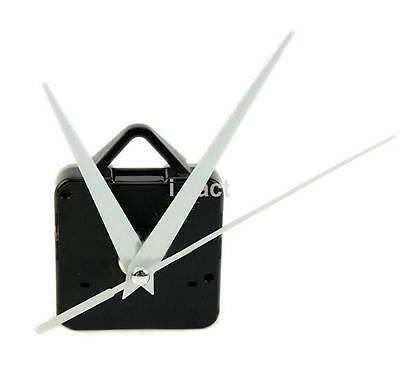 Clock Motor For Wall Clock Replacement Movement Parts White Hands Tool Kit UK