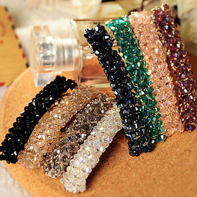 Women Girls Bling Headwear Crystal Rhinestone Hair Clip Barrette Hairpin Fashion