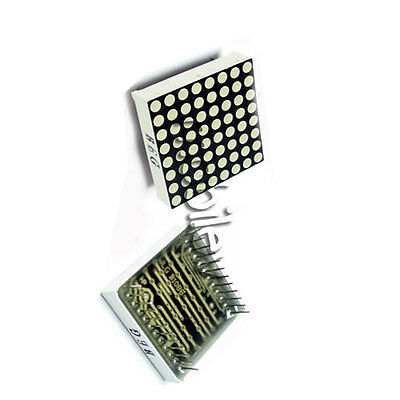 40 LED Dot Matrix 24pin 8x8 3mm Red Green Common Anode