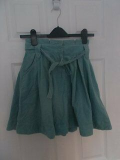 Next Girls Skirt age 6-7 years Duck egg soft cord