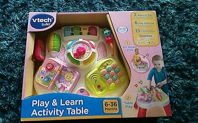 VTech Baby Play & Learn Activity Table NEW BOXED