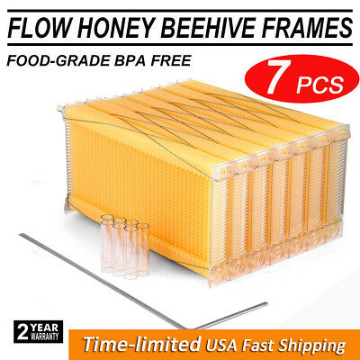 7PCS 2-generation Auto Flow Raw Honey Beekeeping Beehive Hive Frames Harvesting