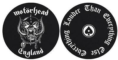 MOTÖRHEAD DJ SLIPMAT FILZMATTE ENGLAND EVERYTHING LOUDER THAN EVERYTHING 2er SET