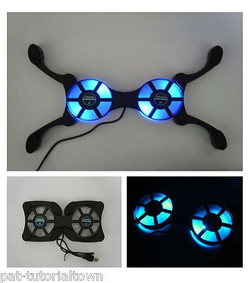 Microsoft Xbox/One/S/360 Cooling Stand/Pad With Ultra-Blue LED Vortex® Fans
