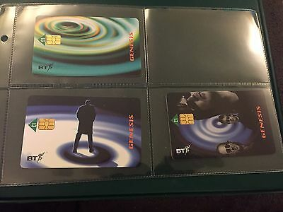 Collectable Phonecards . Limited Cards In Folder. BT Genesis Card Set